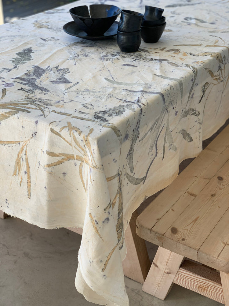 Load image into Gallery viewer, Flax linen table cloth - Print 1/18Nov20