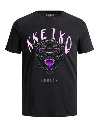 BLACK PANTHER T-SHIRT - BLACK