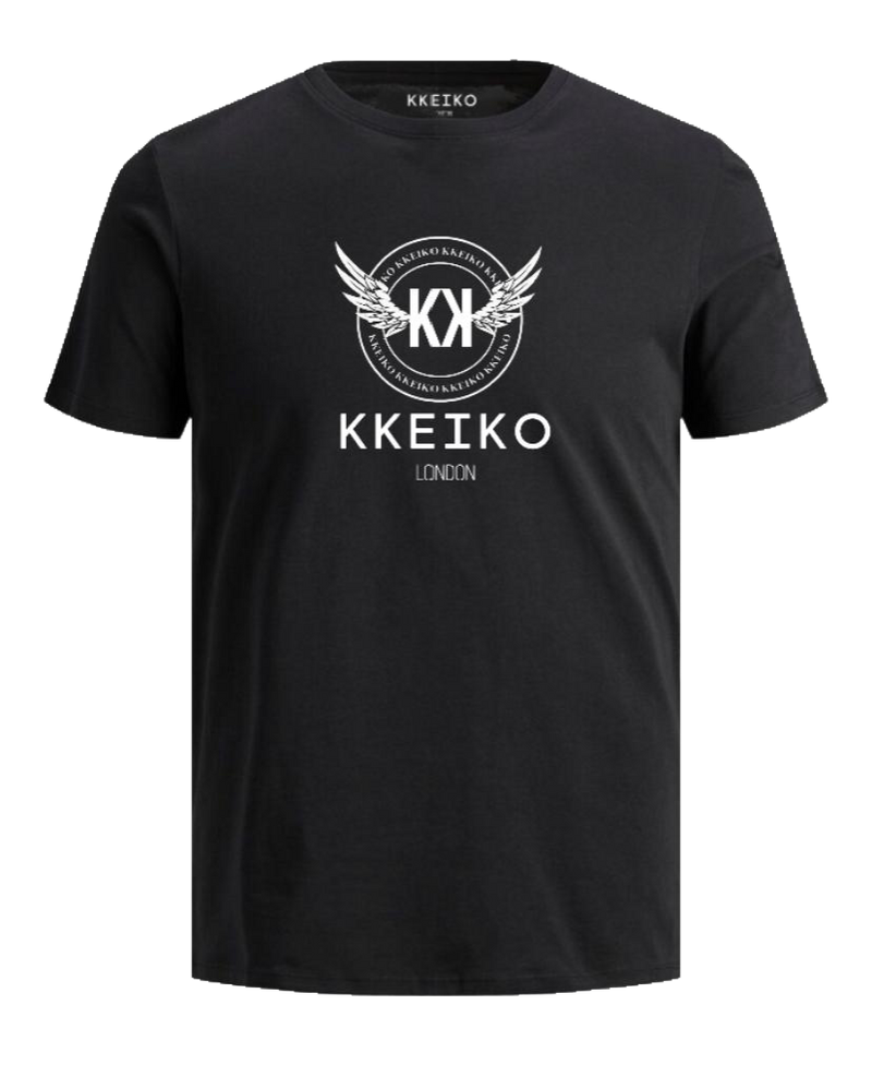OFFICIAL KKEIKO LONDON LOGO T-SHIRT - BLACK