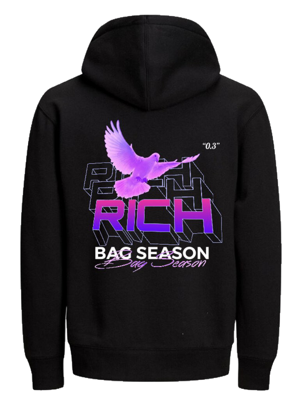 RICH | BAG SEASON HOODIE - BLACK