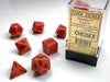 Speckled Polyhedral Fire 7-Die Set