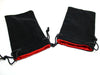 "5"" X 8"" Velvet Bag Black w/red"