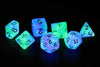 RPG Dice Set (7): Peacock Glowworm Semi-transparent Resin