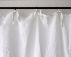 Rideau en lin avec liens / Linen curtain with strings