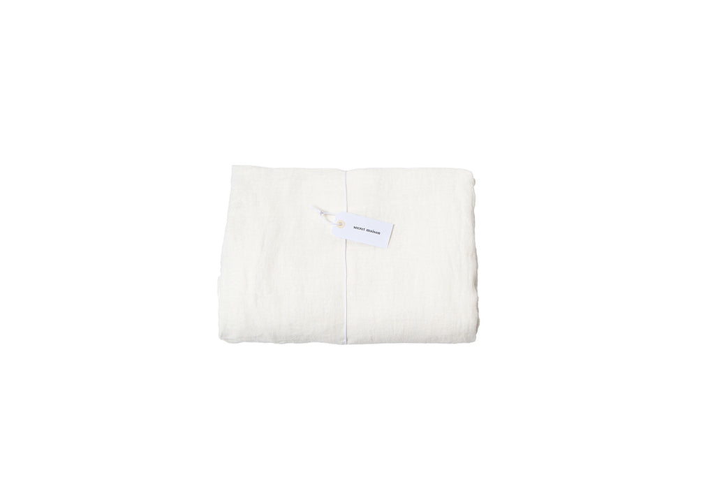Drap housse en lin lavé / Washed linen fitted sheet