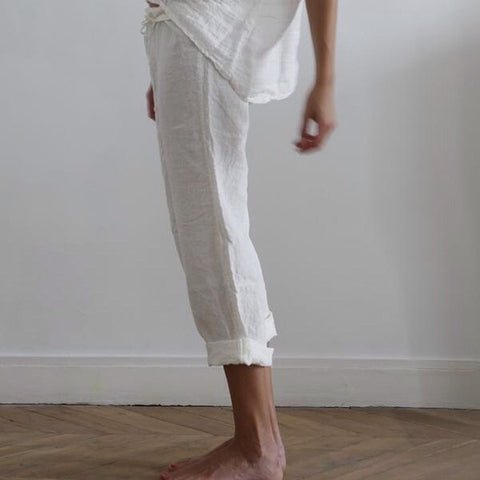 Pantalon lin lavé / Washed linen pants