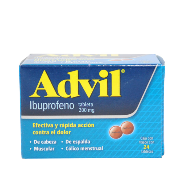 ADVIL 200MG CAJA C/24 TABS.