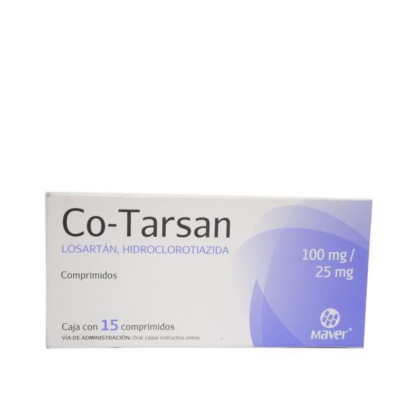 CO-TARSAN  100MG/25MG C/15 COMPRIMIDOS