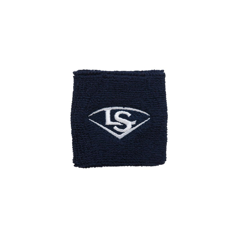 "2.5"" TRADITIONAL WRIST BAND Louisville Slugger  Navy O/S   PLAYER ACCESSORIES"