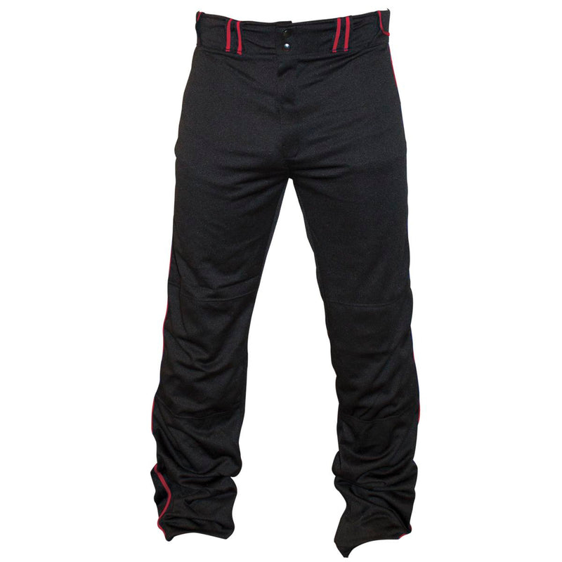 Louisville Slugger Uniform Pant with Piping  BLACK/RED S