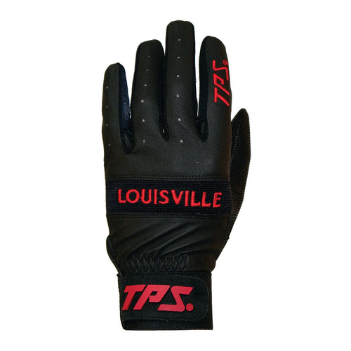 TPS VINTAGE BATTING GLOVES Louisville Slugger  BLACK-RED XL     (5396902740132)