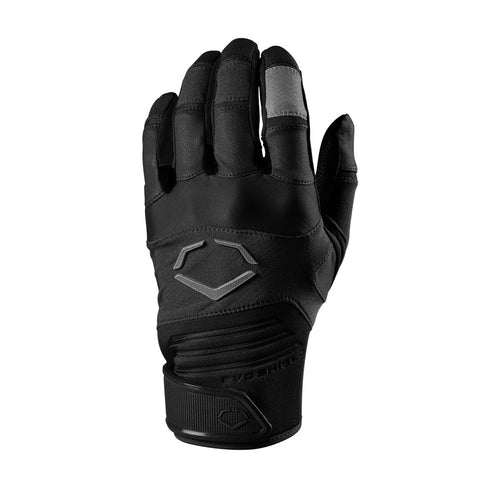 EVOSHIELD AGGRESSOR BATTING GLOVES BLACK (6042399998116)