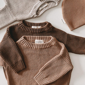 CHUNKY KNIT PULLI GOLD EARTH