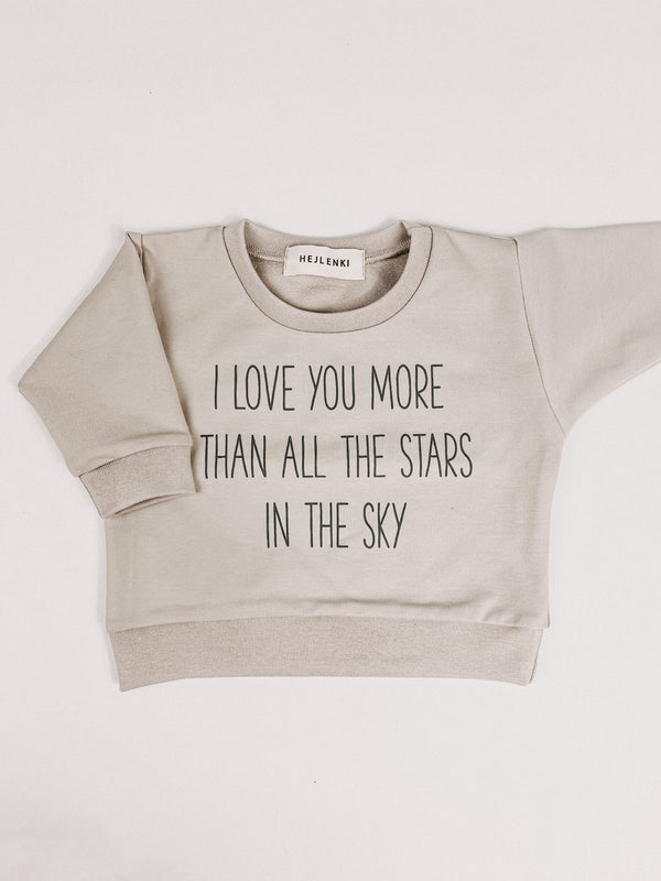 I LOVE YOU MORE SWEATER