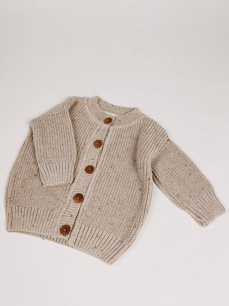 CHUNKY KNIT CARDIGAN OAT