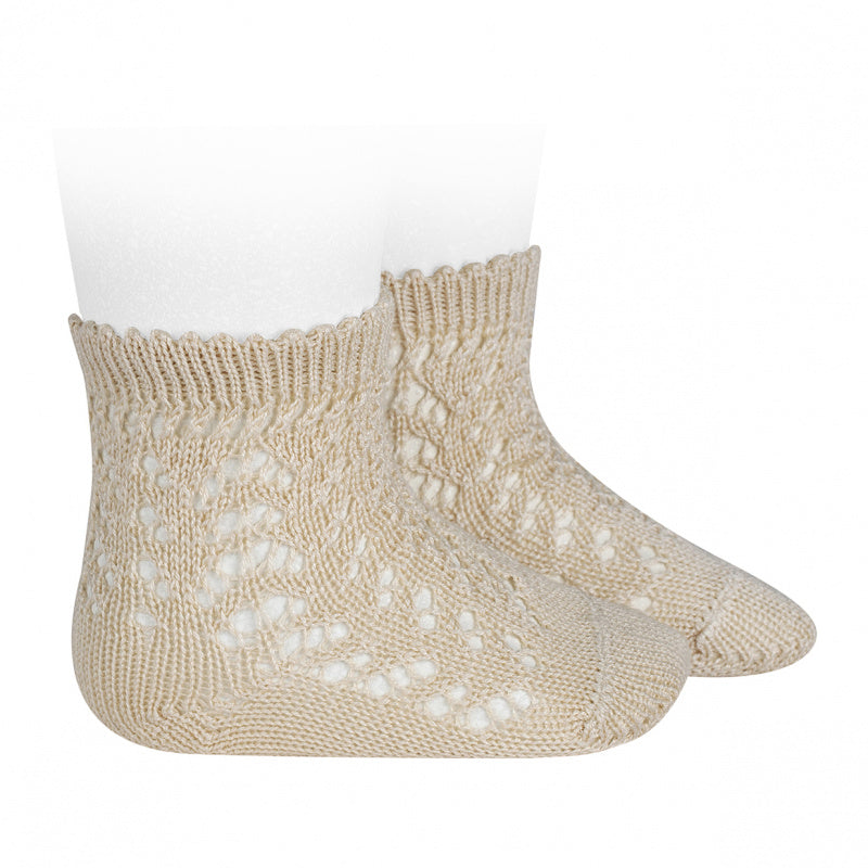 COTTON OPENWORK SOCKS