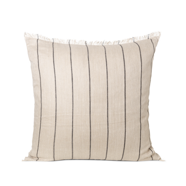 ferm LIVING - Calm Cushion Large - Offwhite/Sort