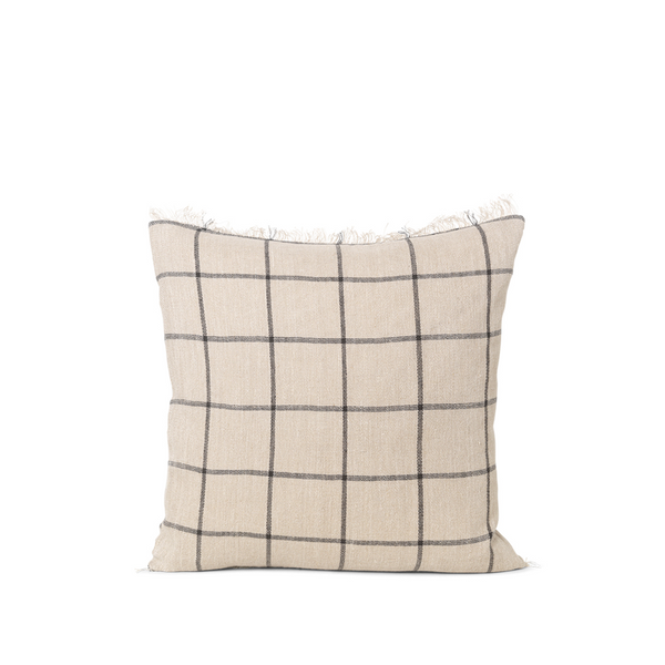 ferm LIVING - Calm Cushion - Offwhite/Sort
