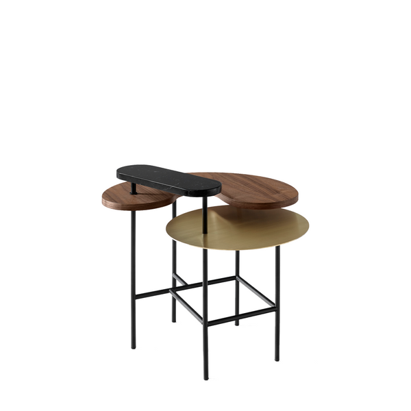 Andtradition - Palette JH8 - Sidebord - Valnød/Messing/Nero Marquina marmor
