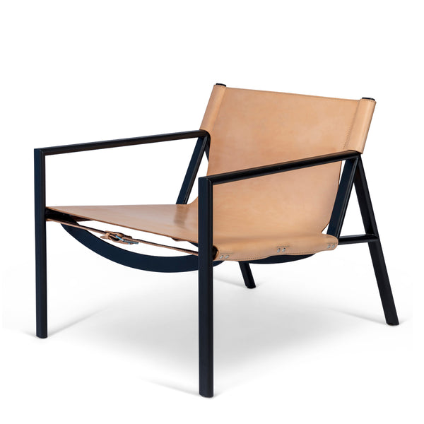 Bent Hansen - Tension Lounge Chair - Kernelæder - Natur