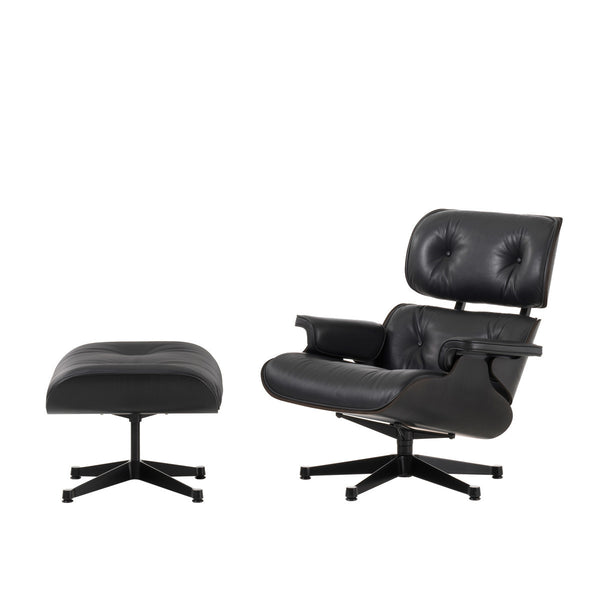 Vitra - Eames Lounge Chair + Ottoman - Ask/Premium læder - Black ed.