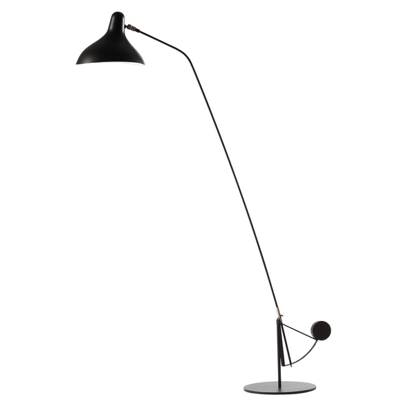 DCW édition Paris - Mantis BS1-B Round - Gulvlampe - Sort/Sort