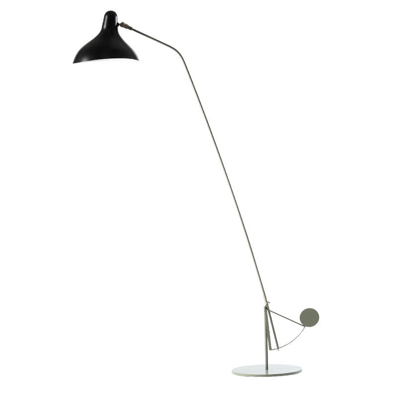 DCW édition Paris - Mantis BS1-B Round - Gulvlampe - Sort/grøn