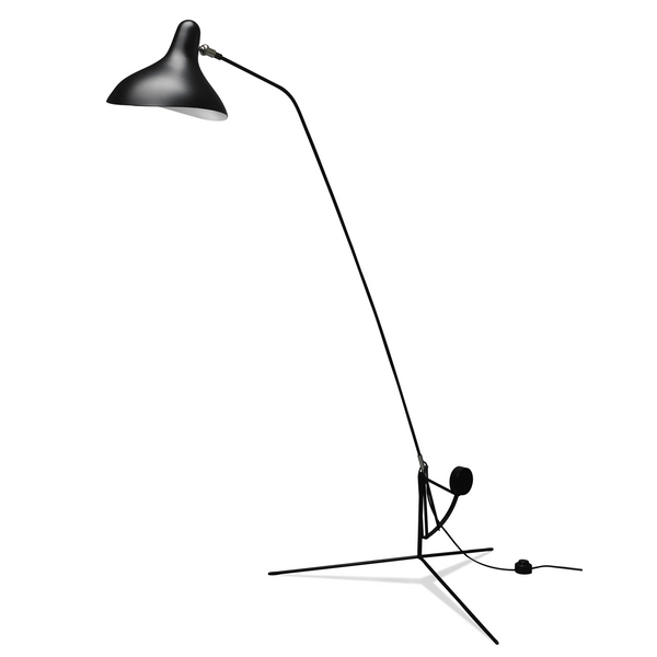 DCW édition Paris - Mantis BS1 - Gulvlampe- Tripod - Sort/Sort