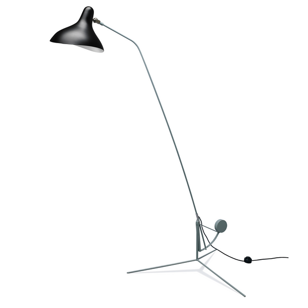 DCW édition Paris - Mantis BS1 - Gulvlampe- Tripod - Sort/Grøn