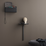 ferm LIVING - Pujo Wall Table - Sort metal m. Ask - Ø25 cm