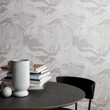 ferm LIVING - Marbling - Wallpaper - Charcoal