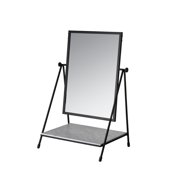 Fritz Hansen - Table Mirror - Spejl - Sort - H50 cm