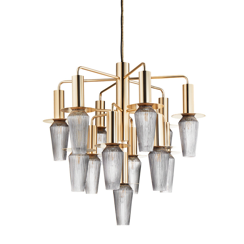 Design By Us - Harakiri - Chandelier Mini - Gold/Smoke - Ø75 cm