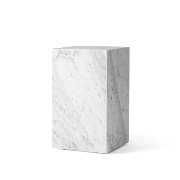 Menu - Plinth Tall - Podium - Hvid Carrara Marmor