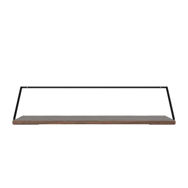 Menu - Rail Desk - Sort stål - Mørk eg - B92 cm
