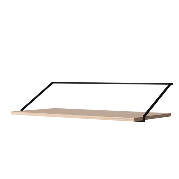 Menu - Rail Desk - Sort stål - Natur eg - B92 cm