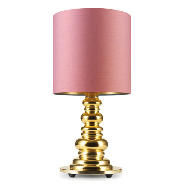 Design by Us - Punk Deluxe - Gold/Rose - Bordlampe - H51 cm