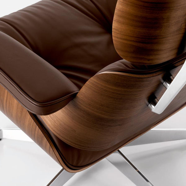 Vitra - Eames Lounge Chair - Kirsebær/Premium læder - Chocolate