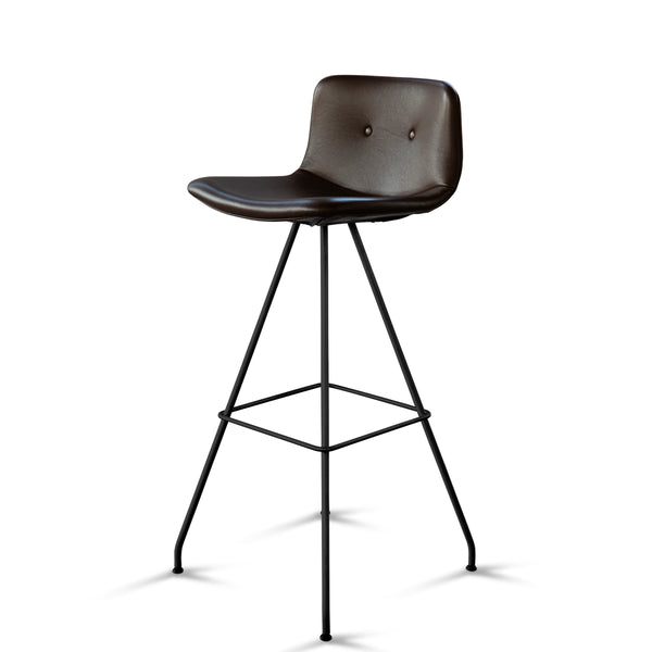 Bent Hansen - Primum Bar Chair High - Zenso læder- Brun