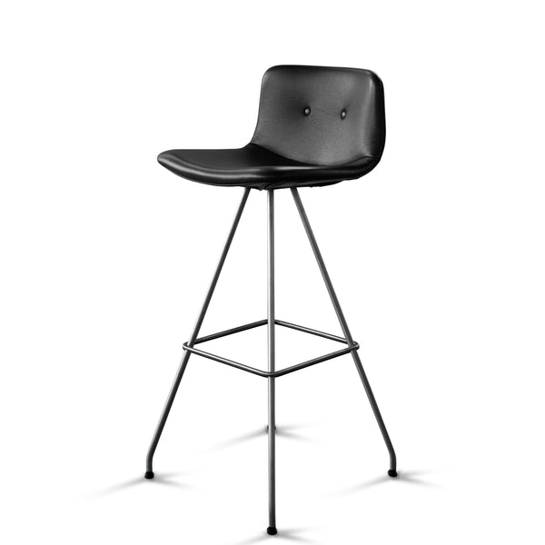 Bent Hansen - Primum Bar Chair High - Zenso læder - Sort