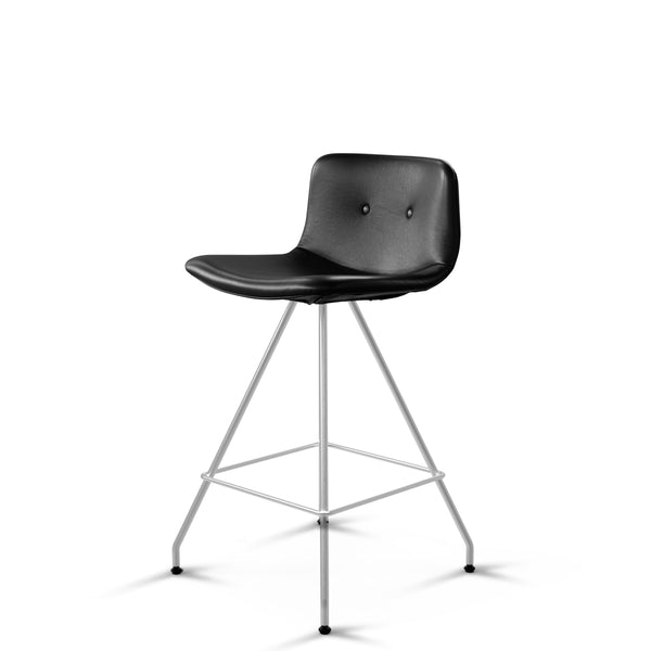 Bent Hansen - Primum Bar Chair Low - Zenso læder - Sort