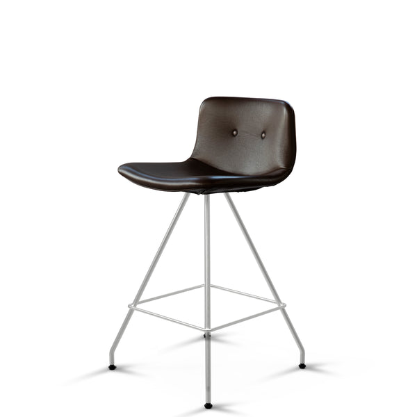 Bent Hansen - Primum Bar Chair Low - Zenso læder - Brun