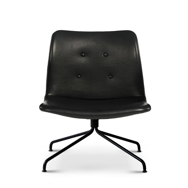 Bent Hansen - Primum Lounge Chair - Zenso Læder - Sort