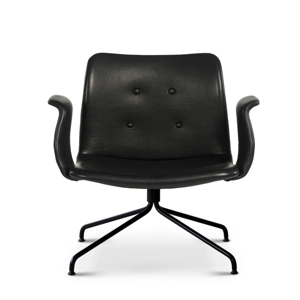 Bent Hansen - Primum Lounge Chair m. armlæn - Zenso Læder - Sort
