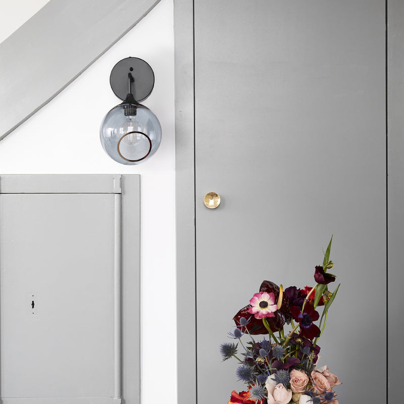 Design By Us - Ballroom The Wall 37 - Væglampe - Messing/Rose - Ø20 cm