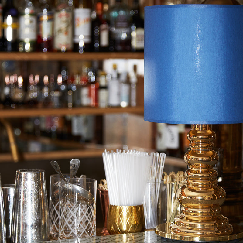 Design by Us - Punk Deluxe - Gold/Blue - Bordlampe