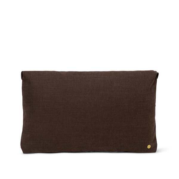 ferm LIVING - Clean Cushion - Hot Madsion - Chocolate/Caramel