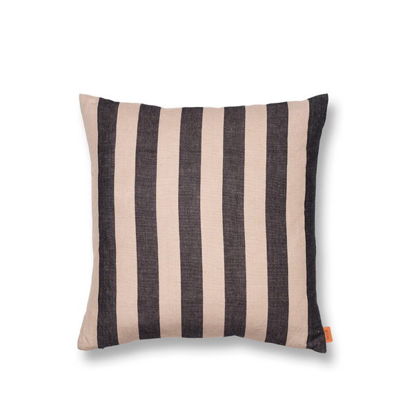 ferm LIVING - Grand Cushion - Pude - Sand & sort