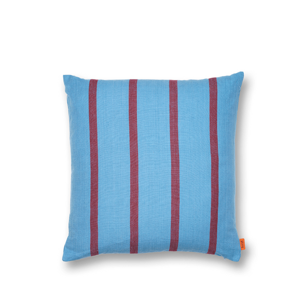 ferm LIVING - Grand Cushion - Pude - Blå & Bordeaux