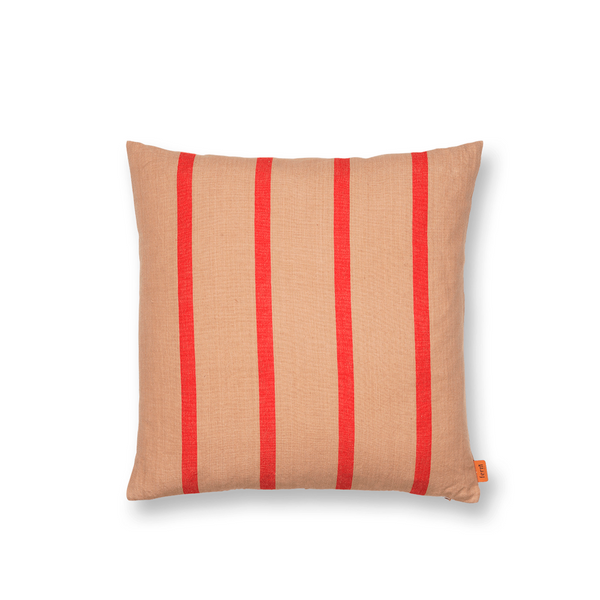 ferm LIVING - Grand Cushion - Pude - Camel & Rød